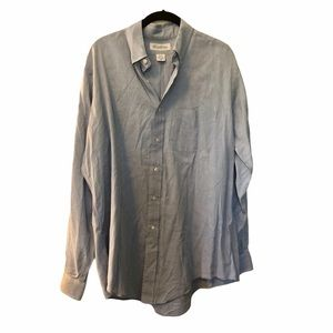 Brooks brothers blue long sleeve button down shirt
